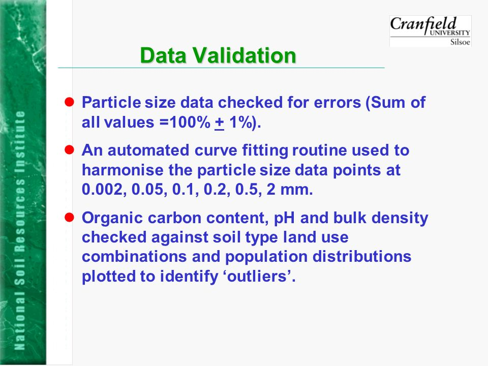 Evaluation of SPADE-2 Particle-size data lCurve fitting exercise using a logistic curve showed that significant amounts of data give an unacceptable fit.