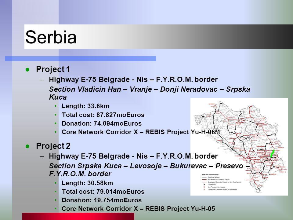 Serbia Project 1 –Highway E-75 Belgrade - Nis – F.Y.R.O.M.