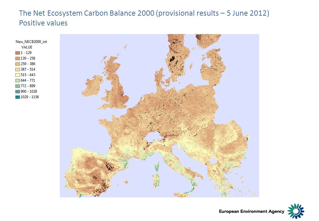 The Net Ecosystem Carbon Balance 2000 (provisional results – 5 June 2012) Positive values