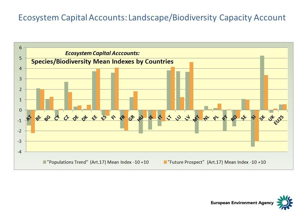 Ecosystem Capital Accounts: Landscape/Biodiversity Capacity Account
