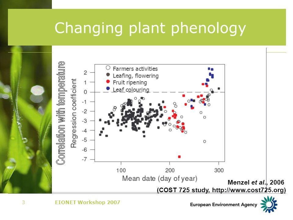 EIONET Workshop 20074 Changing species distributions Source: Hickling et al., 2006