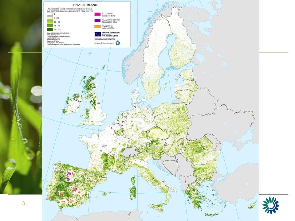 9 HNV mapping – Estonia ESCCA database of semi-natural communities Example: Muhu island