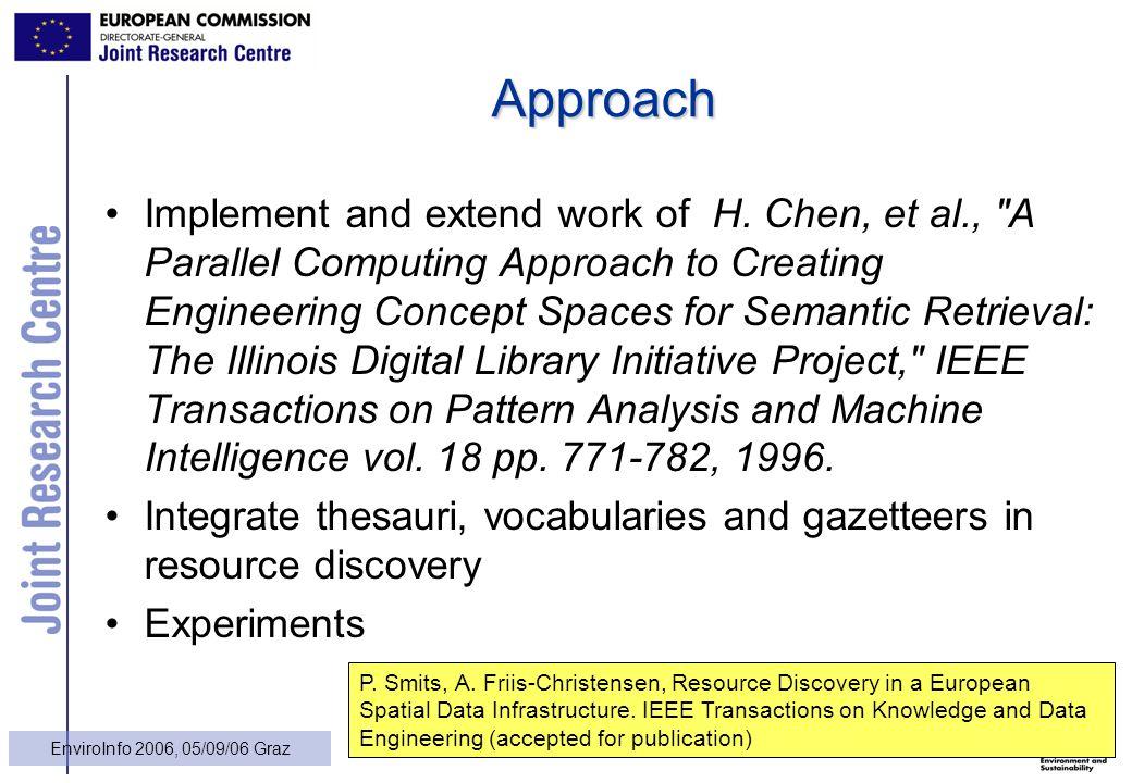 13 EnviroInfo 2006, 05/09/06 Graz Approach Implement and extend work of H.