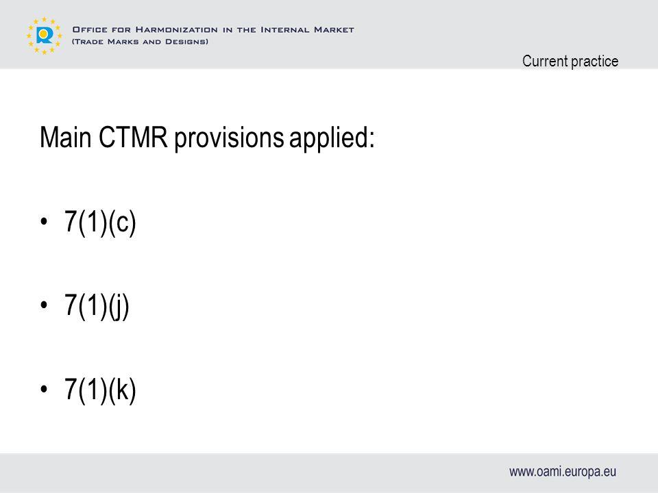 Current practice 7(1)(c)7(1)(j)/(k) Consists of PGI/PDO Contains PGI/PDO (Consists of G.N.) (Contains G.N.)