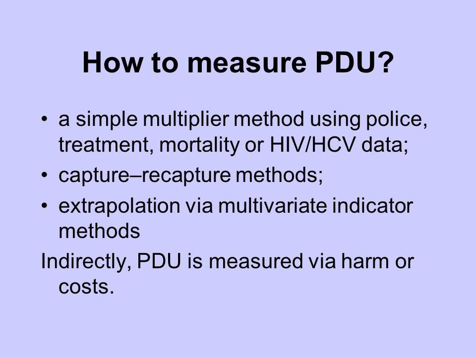 How to measure PDU.