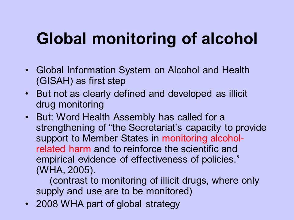 Main differences Monitoring of use indicators vs.