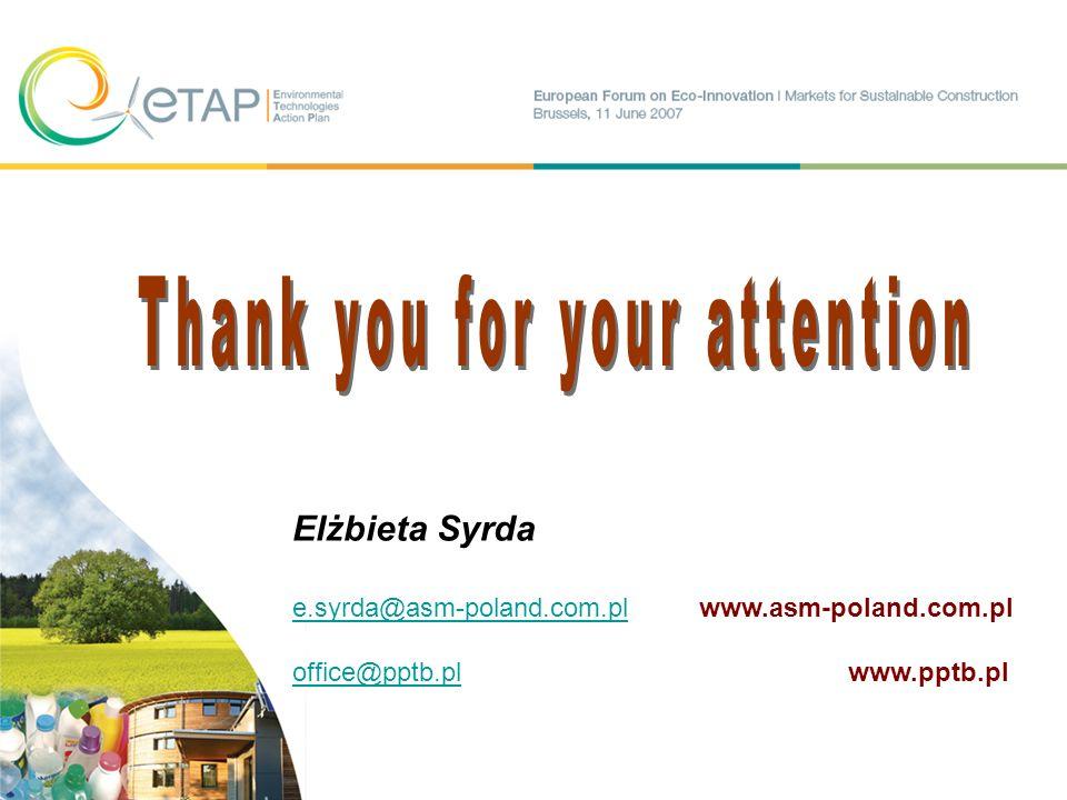 Elżbieta Syrda e.syrda@asm-poland.com.ple.syrda@asm-poland.com.pl www.asm-poland.com.pl office@pptb.ploffice@pptb.pl www.pptb.pl