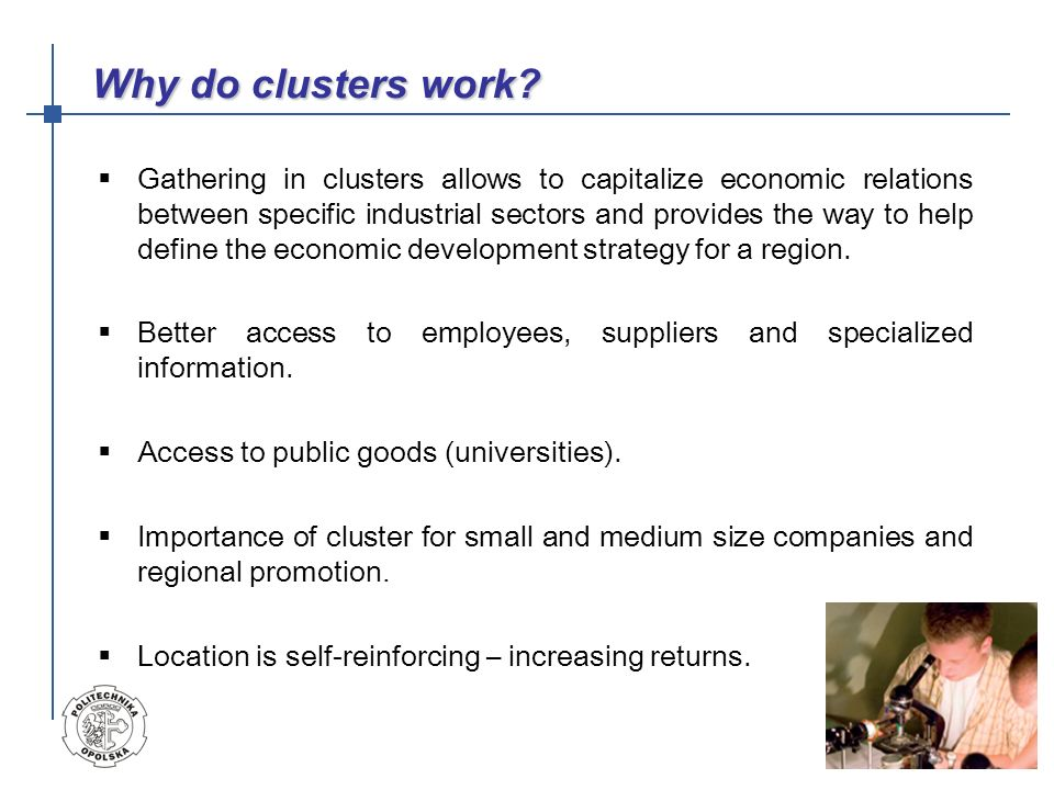 The following issues concerning clusters have been arisen: general (organizational) lack staff ( human factor), rules of law, raw materials, cooperation within clusters of the same branch, documents circulation; marketing market research, the promotion of the cluster of products, coordination of marketing activities, logistics, craftmanship prestige improvement; financial difficulty of gaining the working capital, difficulties with financial services, professional drawing up of proposals, technological barrier, industrial design of goods What problems exist?