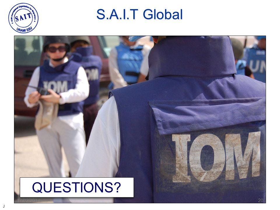 17/02/201420 QUESTIONS? S.A.I.T Global J
