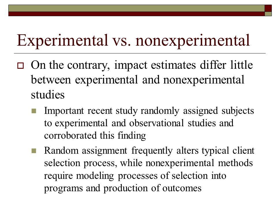 Experimental vs.