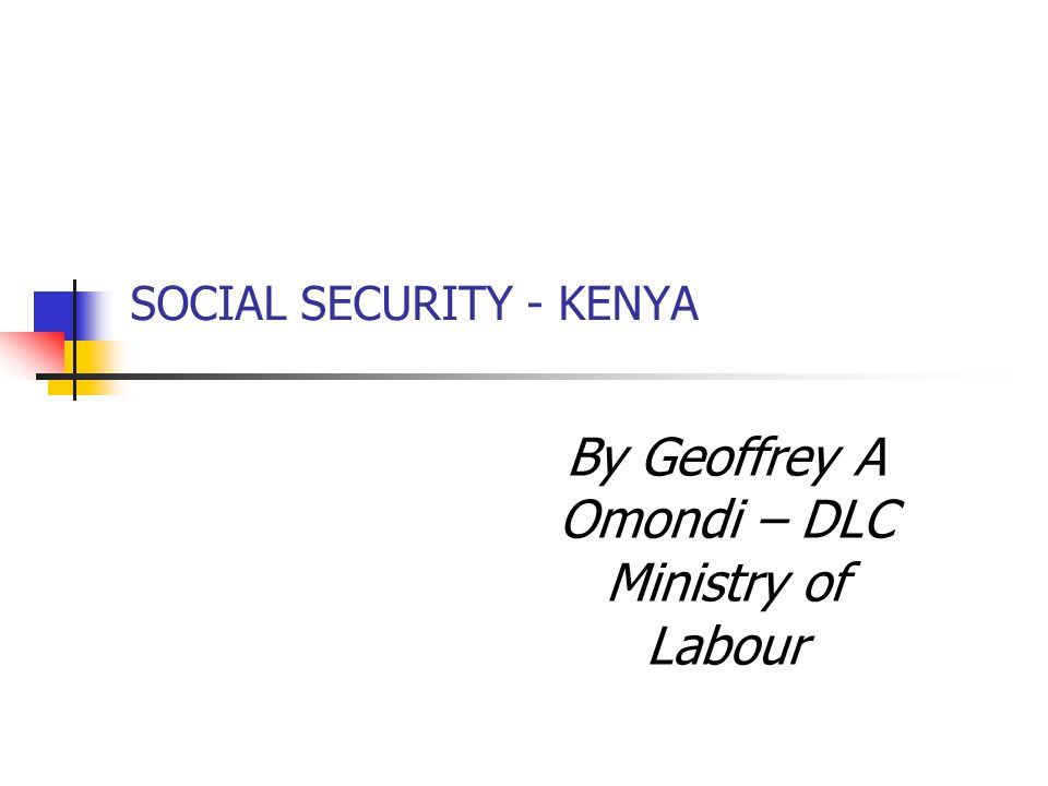 LEGAL BASIS FOR SOCIAL PROTECTION Existing ILO standards in Social Security – Recommendation no.