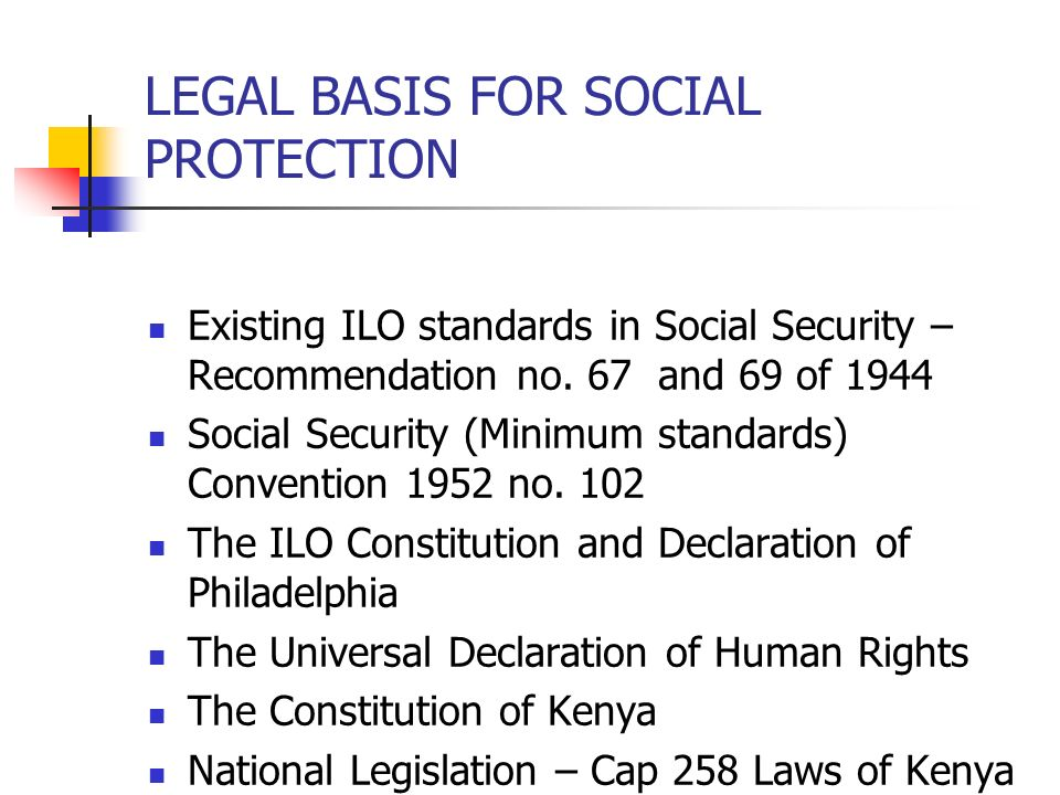 NATIONAL SECURITY FUND (NSSF) ORIGIN IN KENYA The National social Security Fund was established in 1965 through an Act of Parliament Chapter 258 of the Laws of Kenya The Fund initially operated as a Division under the Department of Labour in the Ministry of Labour