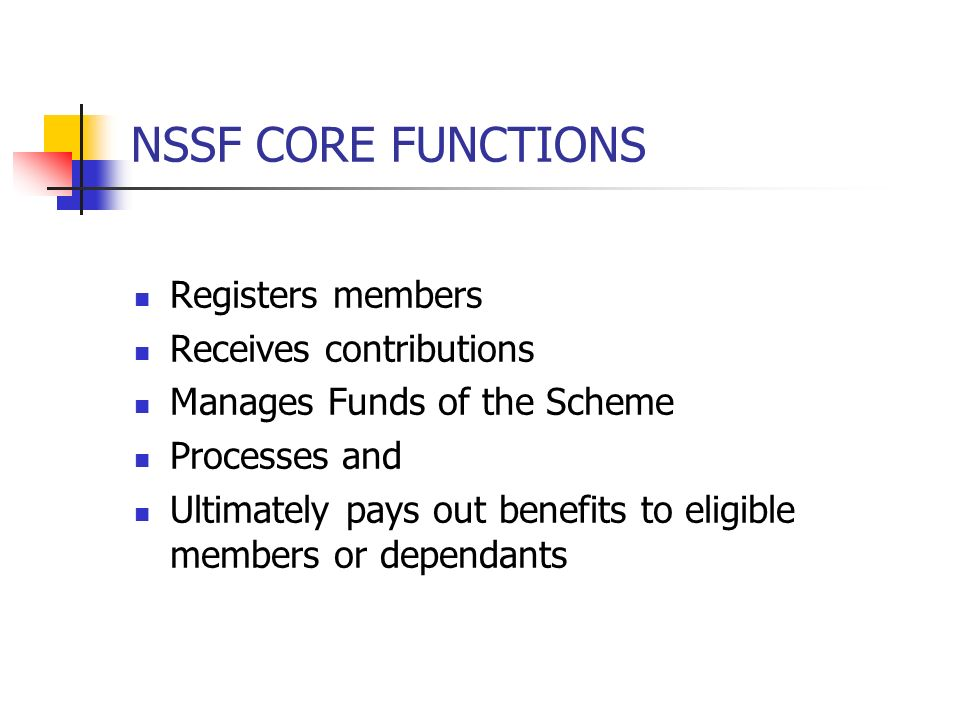 LIMITED COVERAGE Contributions to both NSSF & NHIF though mandatory for workers in both public and private sector is limited ( contributions) For long covered employers with five employees and above Now extended to domestic workers and other in informal economy Amount of benefits low !
