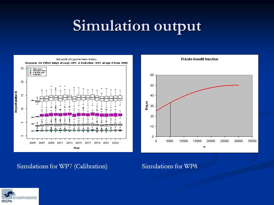 Simulation output Simulations for WP7 (Calibration)Simulations for WP8