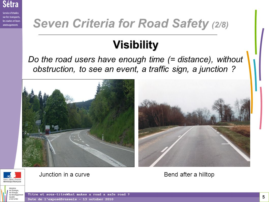 5 5 5 Titre et sous-titreWhat makes a road a safe road .
