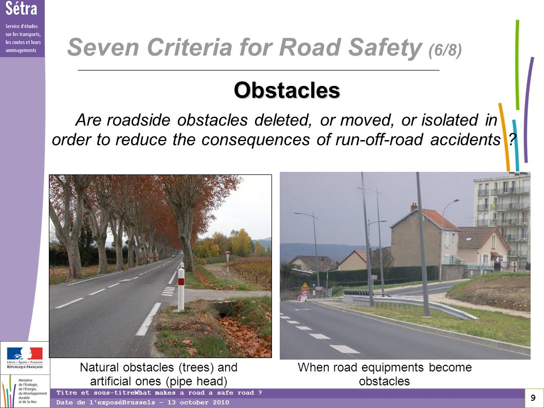 9 9 9 Titre et sous-titreWhat makes a road a safe road .