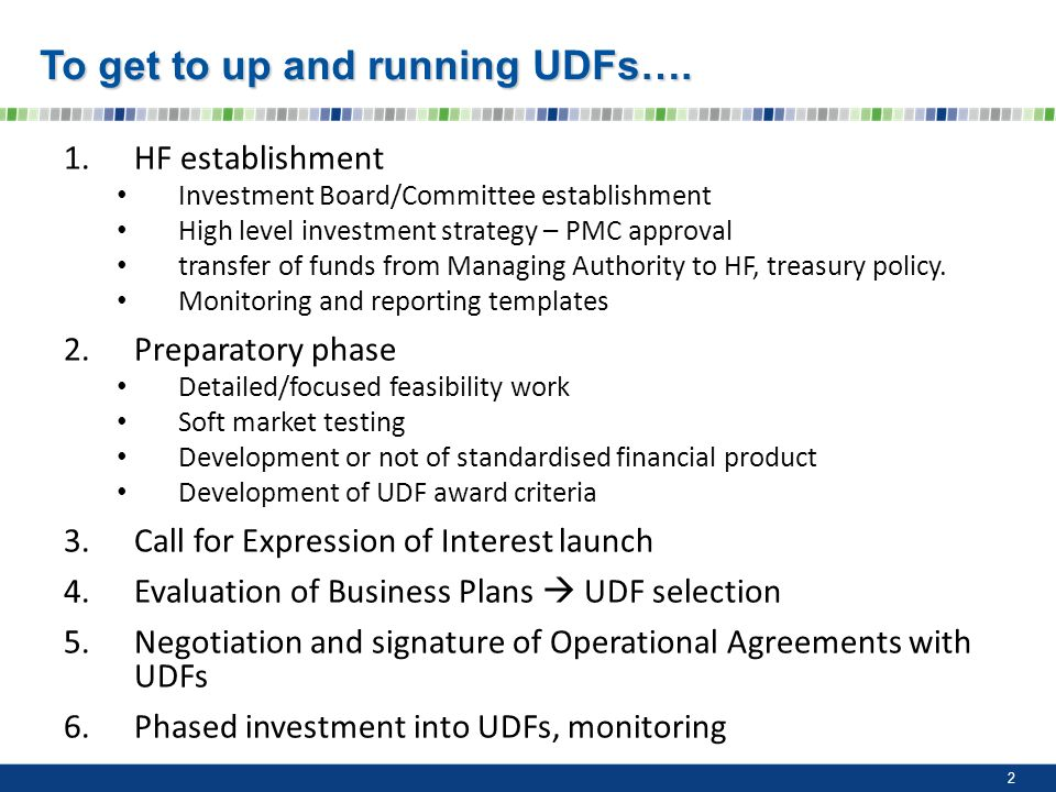 To get to up and running UDFs….