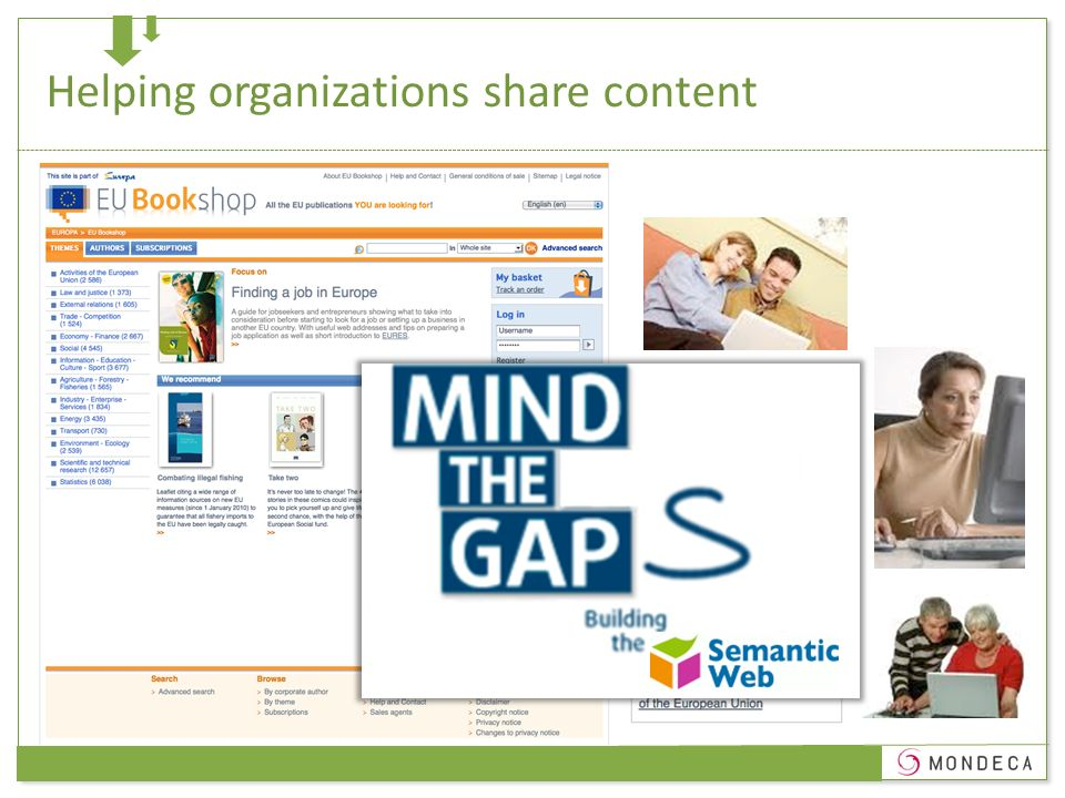 Helping organizations share content