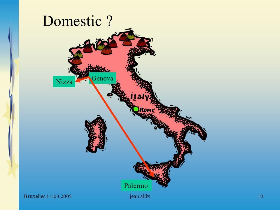 Bruxelles 14.03.2005jean allix10 Genova Palermo Nizza Domestic ?