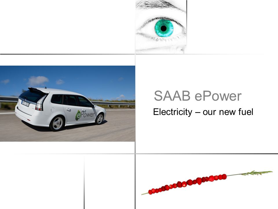 SAAB ePower Electricity – our new fuel
