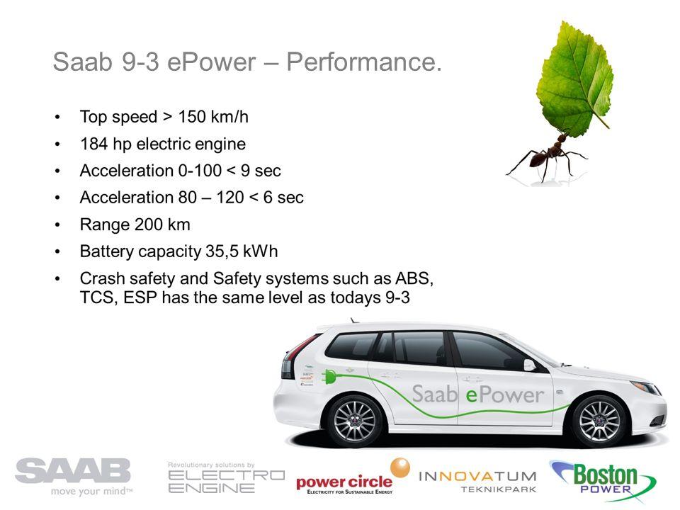 Saab 9-3 ePower – Performance.
