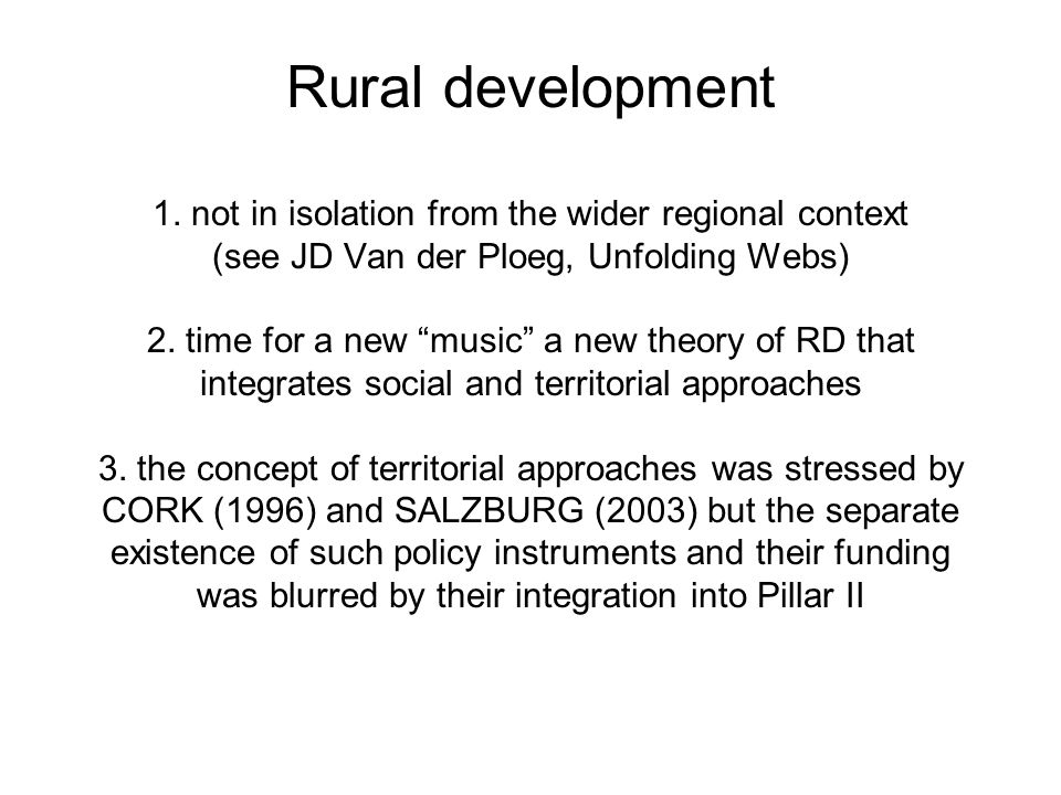 AGRICULTURE 1.Important role within the wider rural economy 2.