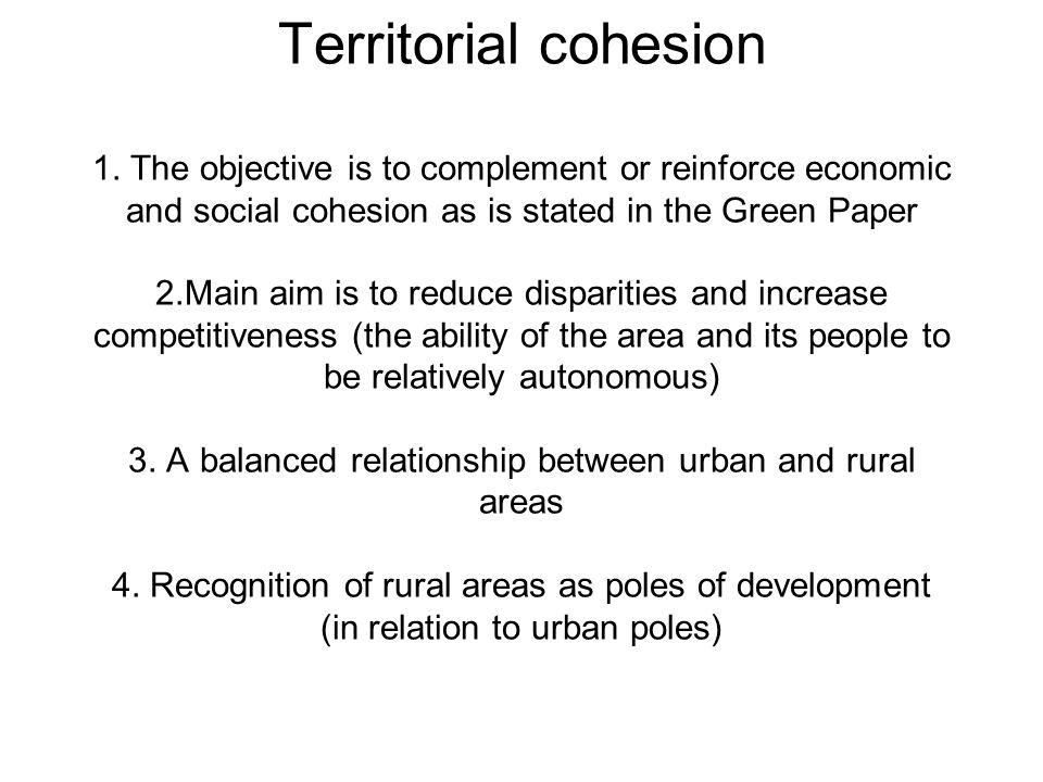 Territorial cohesion 1.
