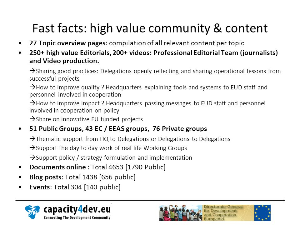 27 Topic overview pages: compilation of all relevant content per topic 250+ high value Editorials, 200+ videos: Professional Editorial Team (journalis