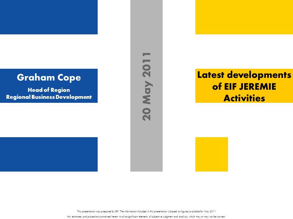 Graham Cope Head of Region Regional Business Development This presentation was prepared by EIF.