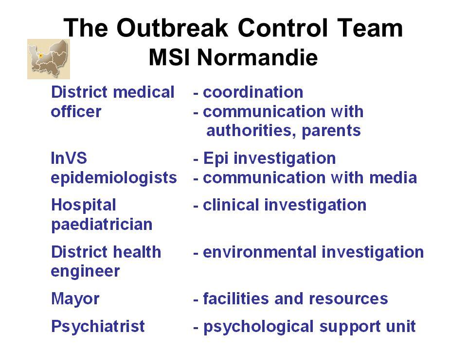 The Outbreak Control Team MSI Normandie