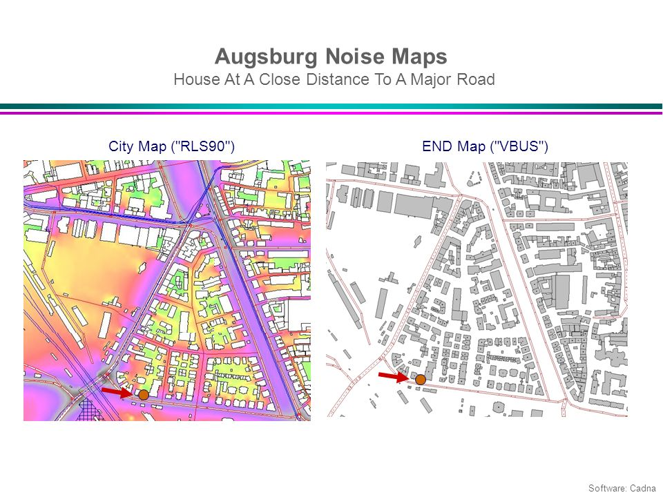 Augsburg Noise Maps House At A Close Distance To A Major Road City Map (