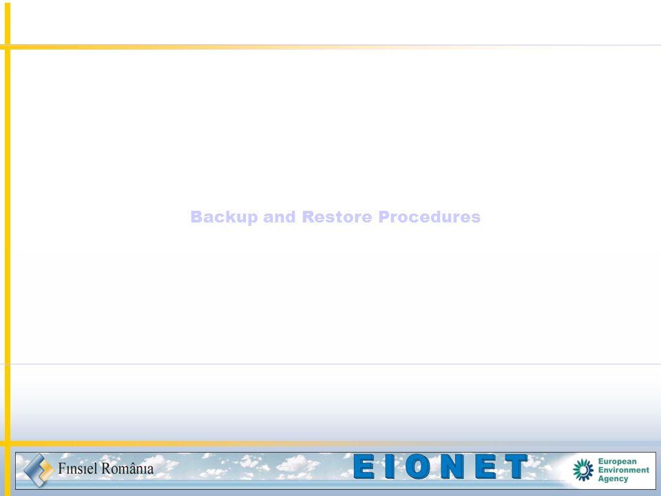 Backup and Restore Procedures