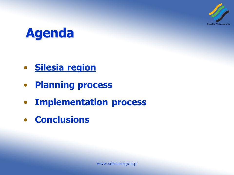 www.silesia-region.pl Agenda Silesia region Planning process Implementation process Conclusions