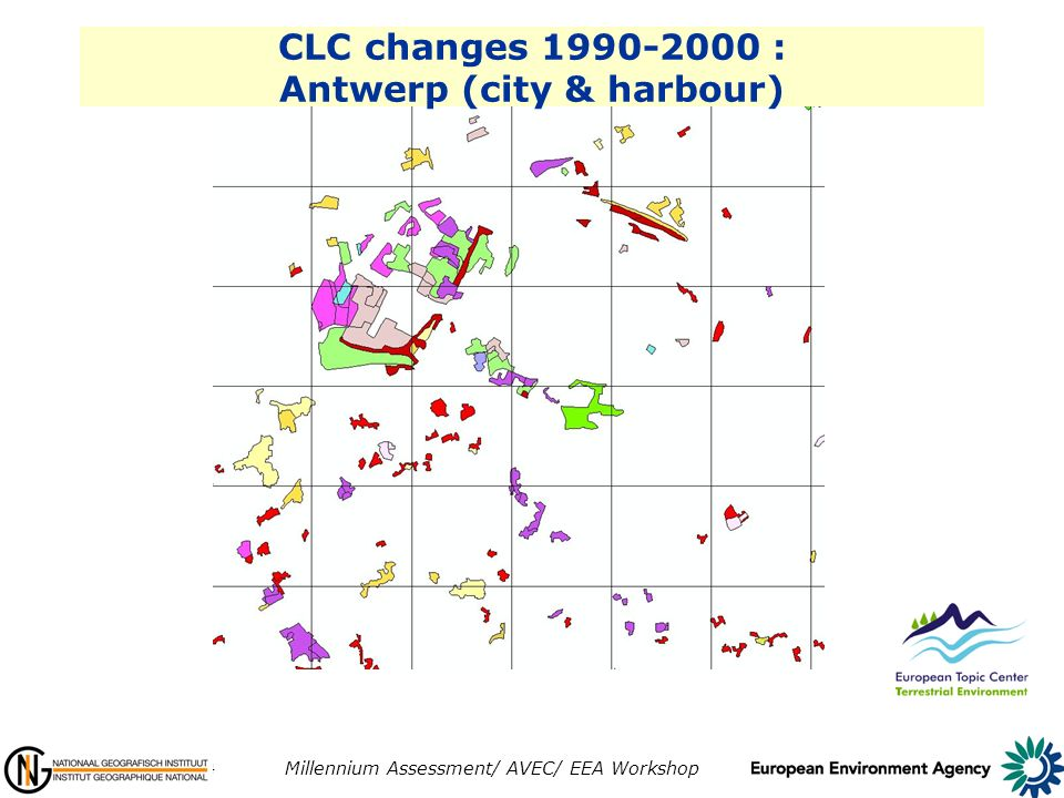 10-11 June 2004 Millennium Assessment/ AVEC/ EEA Workshop CLC changes 1990-2000 : Antwerp (city & harbour)