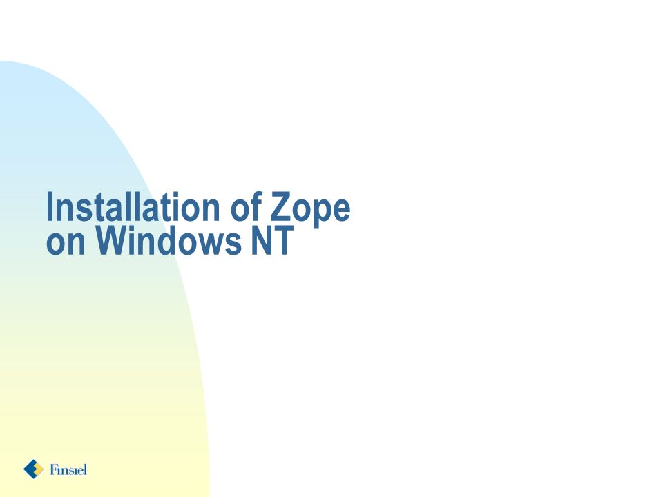 Installation of Zope on Windows NT
