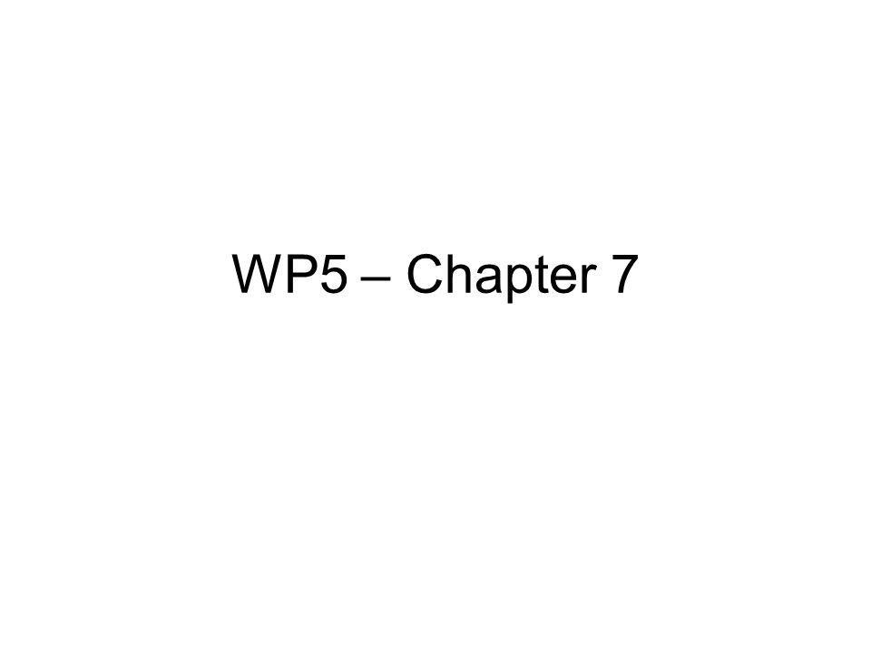 WP5 – Chapter 7