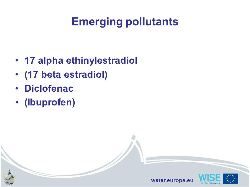 water.europa.eu Emerging pollutants 17 alpha ethinylestradiol (17 beta estradiol) Diclofenac (Ibuprofen)