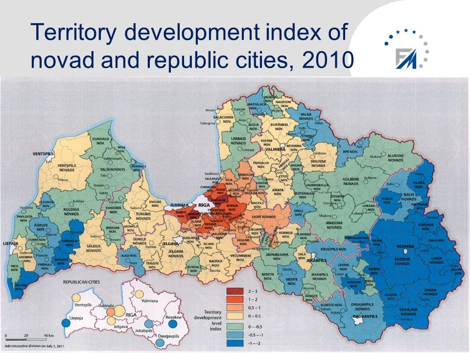 Territory development index of novad and republic cities, 2010 10