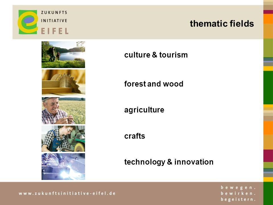forest and wood agriculture crafts technology & innovation culture & tourism