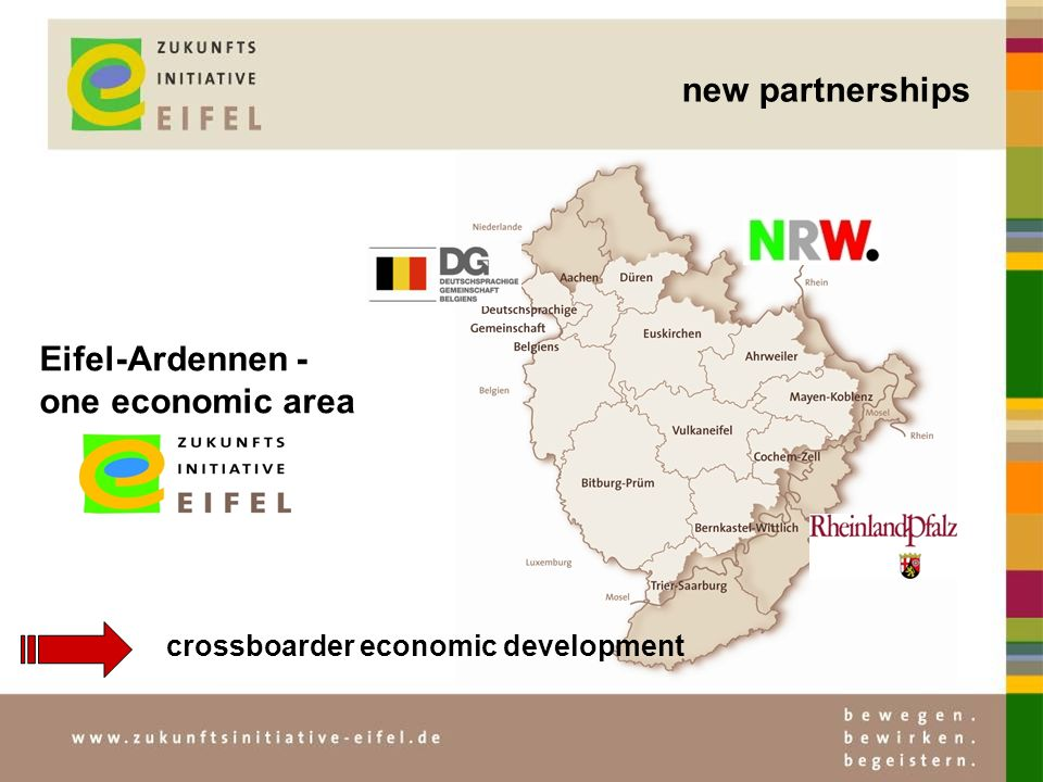 new partnerships crossboarder economic development Eifel-Ardennen - one economic area