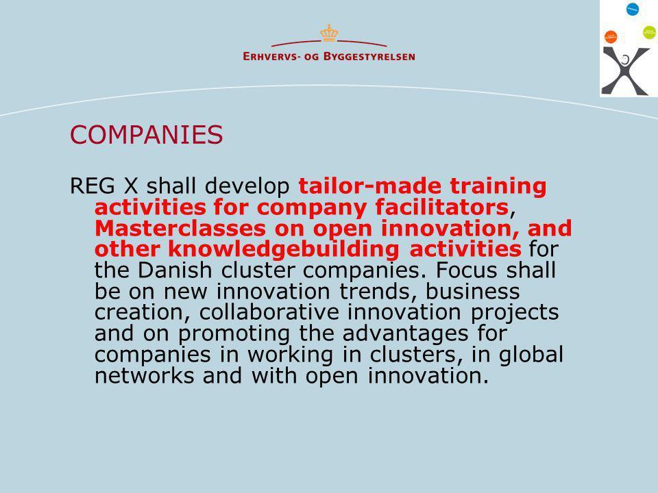 PUBLIC AUTHORITIES REG X shall develop the world most innovative training program in regional economic development.
