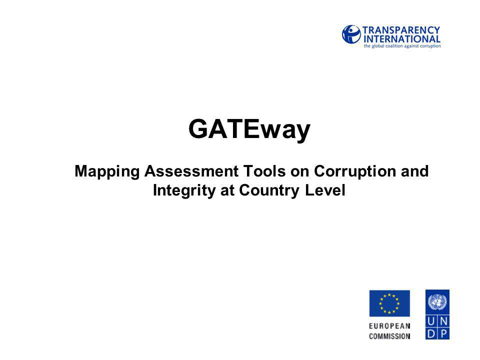 GATEway Mapping Assessment Tools on Corruption and Integrity at Country Level