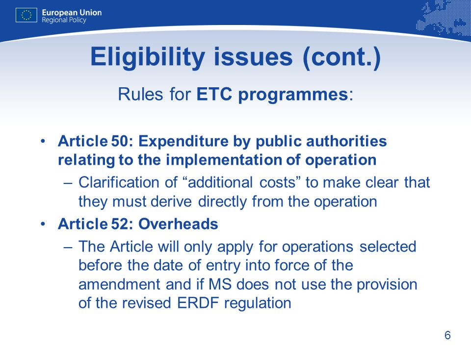 7 Financial issues Annex X Simplifying information in the statement of expenditure: –no reporting on annual breakdown of the total certified eligible expenditure as not relevant for the Commission –no need to include expenditure on operations subject to partial closure as it is provided in Annex XIV –deletion of the reference to major projects (for interim payments only) in the light of the changes in Article 56 of General Regulation – clarification regarding the interests received