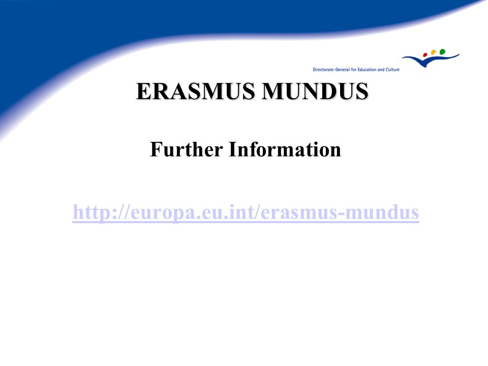 ERASMUS MUNDUS Further Information