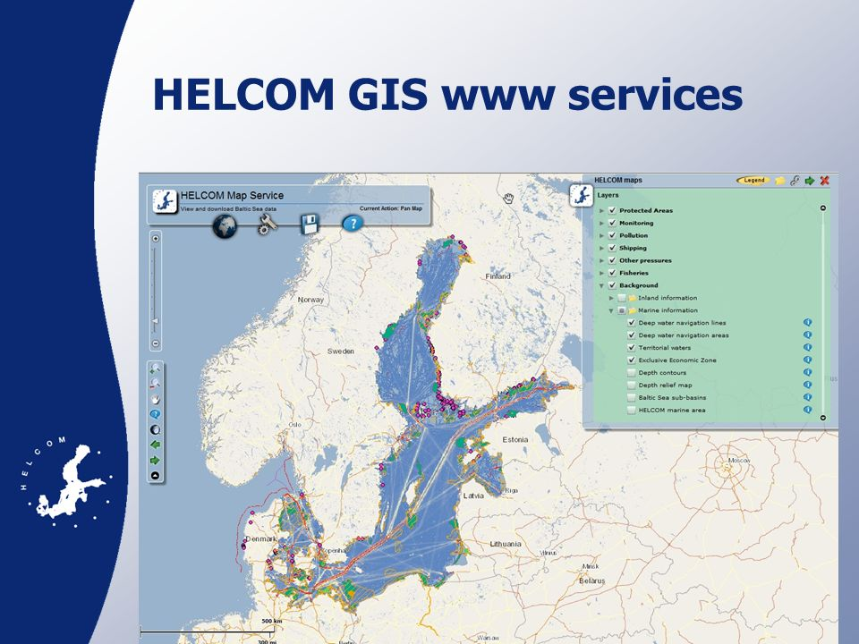 HELCOM GIS www services