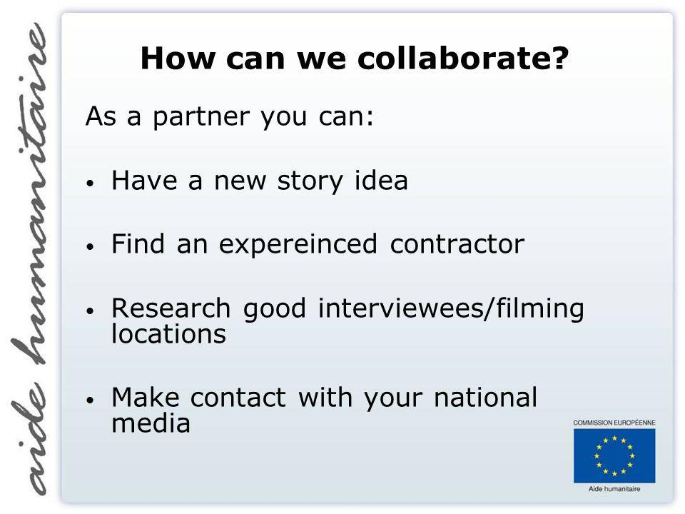 How can we collaborate.