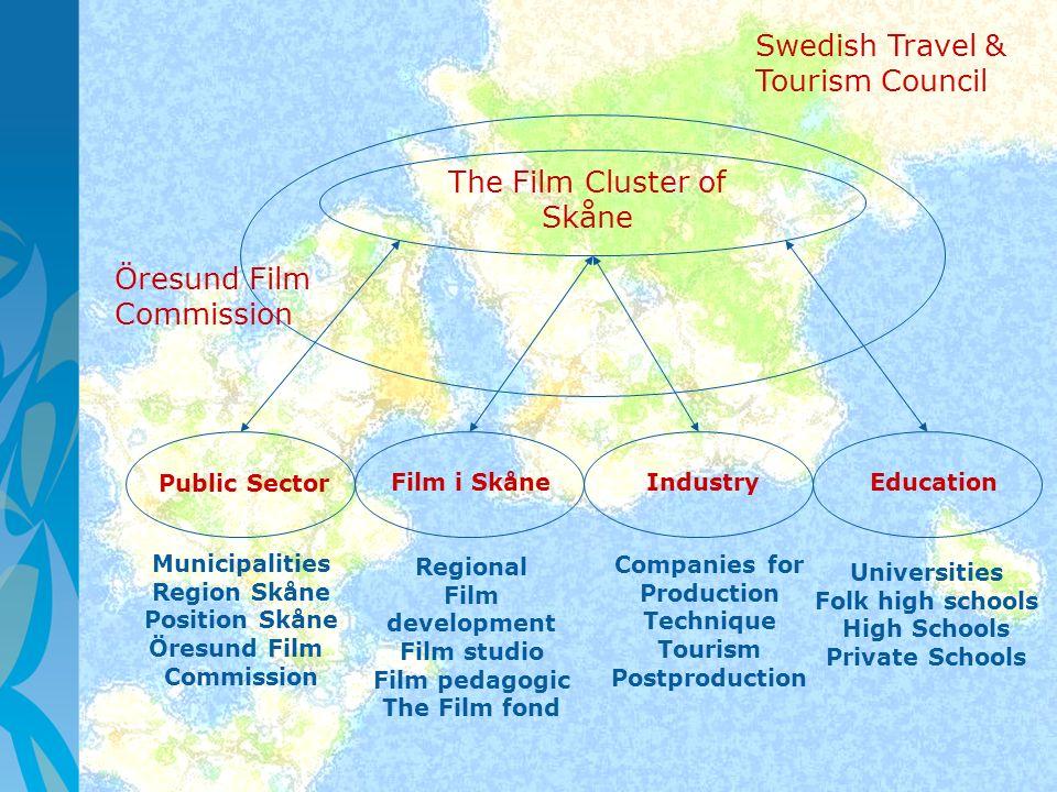 Public Sector Film i SkåneIndustryEducation Municipalities Region Skåne Position Skåne Öresund Film Commission Companies for Production Technique Tour
