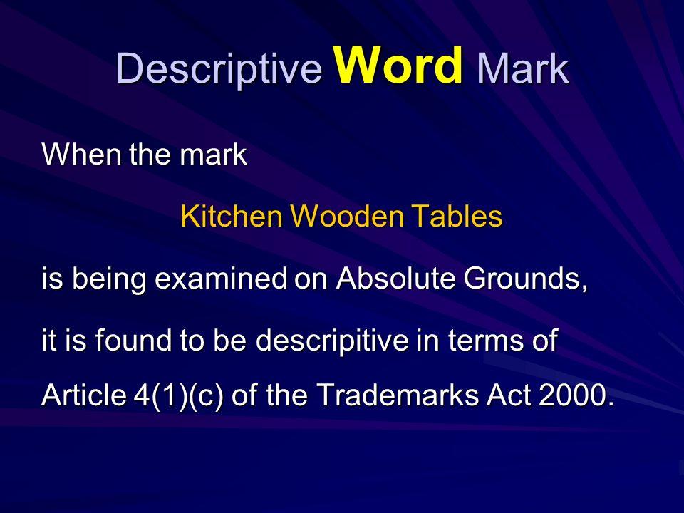 Descriptive Word Mark Art 4.