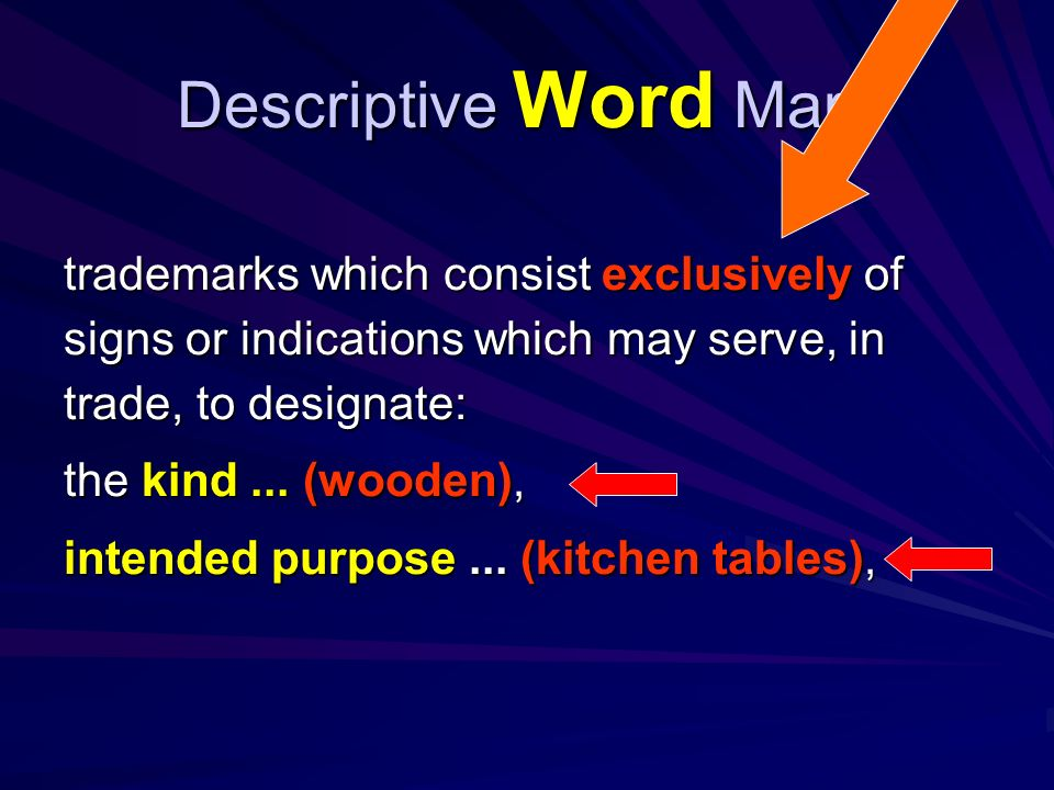 Descriptive Word Mark A communication is sent to the applicant: a.