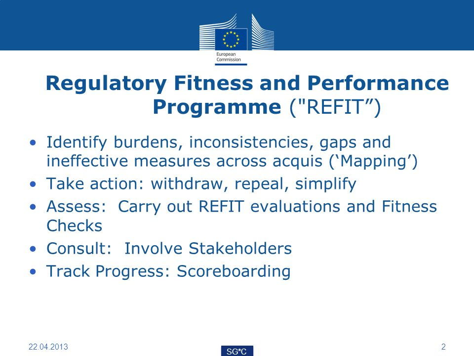 Regulatory Fitness and Performance Programme (